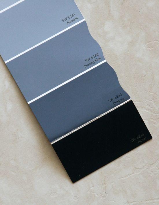 Sherwin Williams Naval Blue, Navy Paint, Dark Blue Paint, Master Bedroom,  Navy