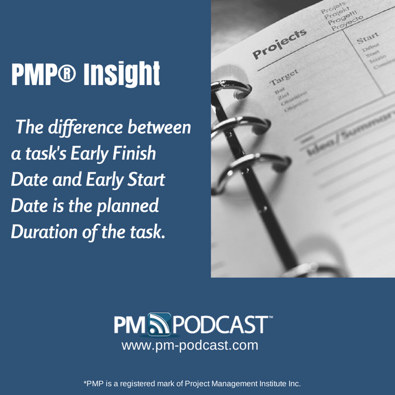 PMP Insight: The Difference Between A Task's Early Finish