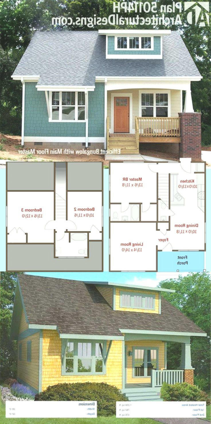 Plan 50114ph Efficient Bungalow With Main Floor Master