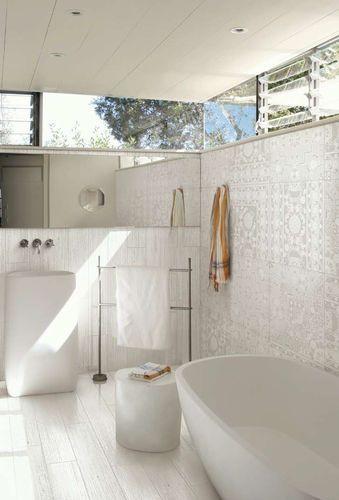 Carrelage de salle de bain / de sol / mural / en grès cérame YAKI