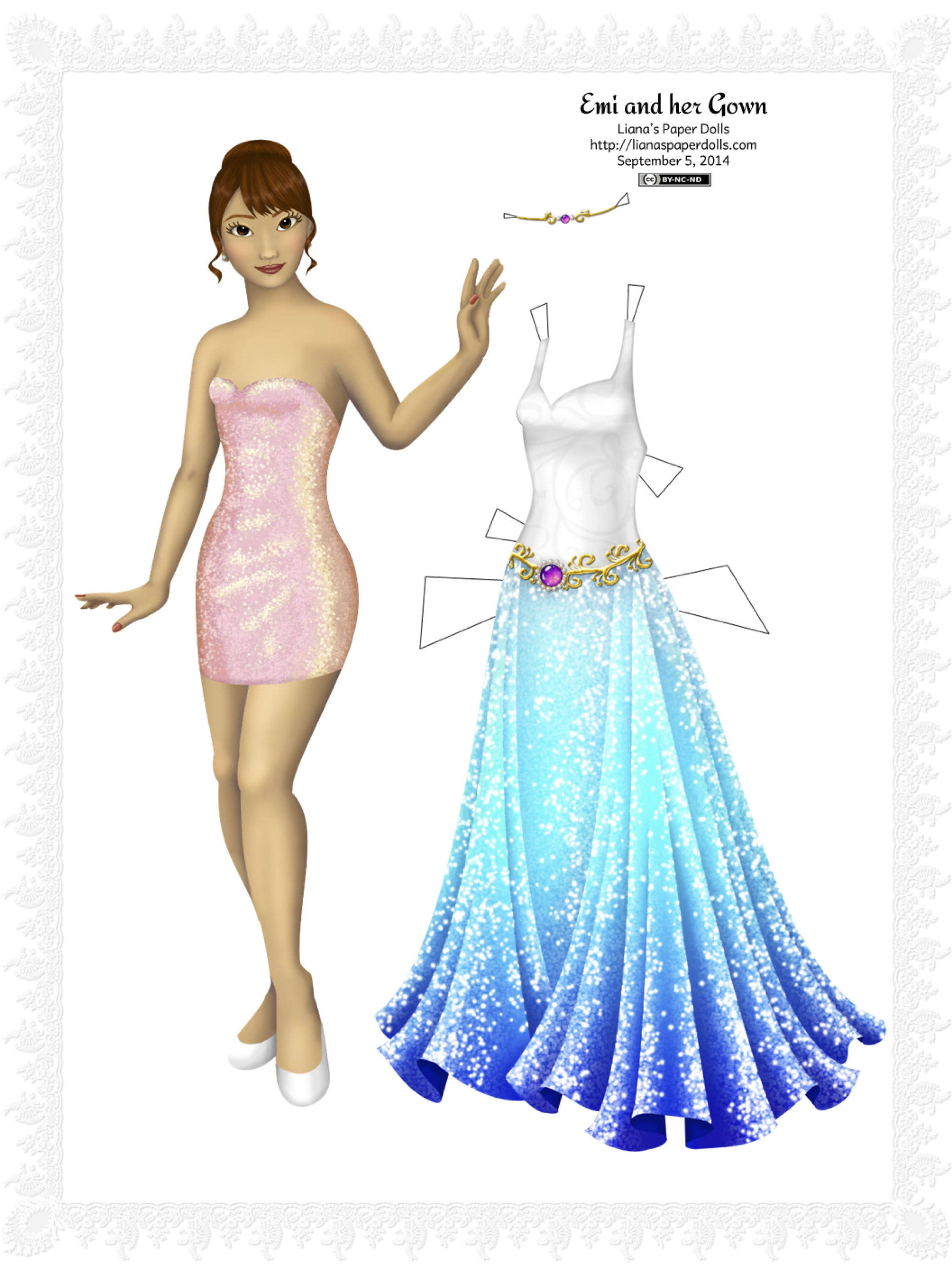 Paper dolls with very beautiful and unusual dresses   PaperDolls #4 ...