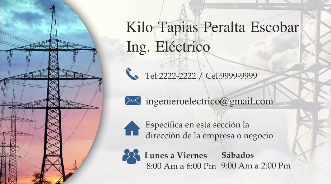 pin by espaciohonduras on tarjetas de presentaci u00f3n de ingeniero electricista