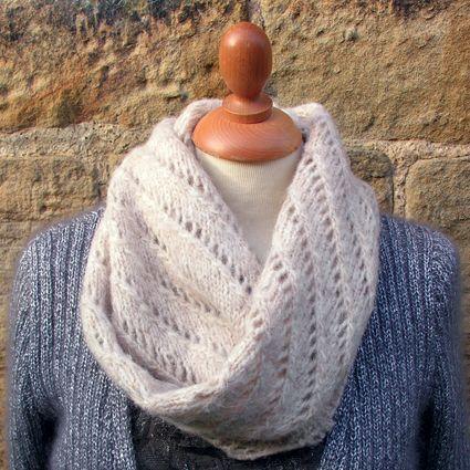 Lazy Lace Snood Free Knitting Pattern From Rowan Knitting