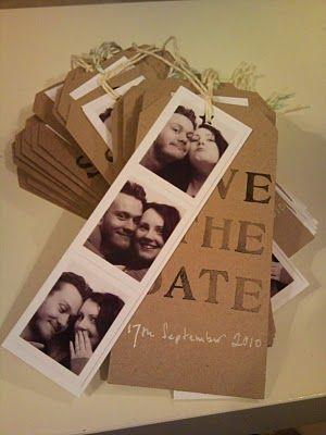 save the date - wie aus dem fotoautomaten. passfotos gibt es bei, Einladungsentwurf