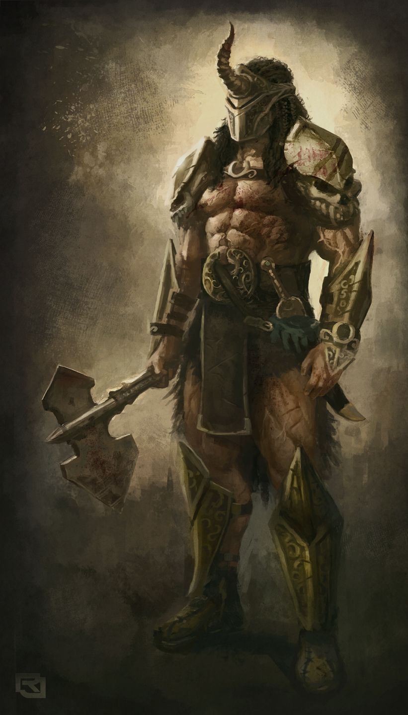 Male Fantasy Art Barbarian Warrior