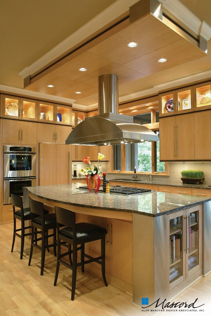 25 Home Plans with Dream Kitchen Designs | Industrial kitchen ...