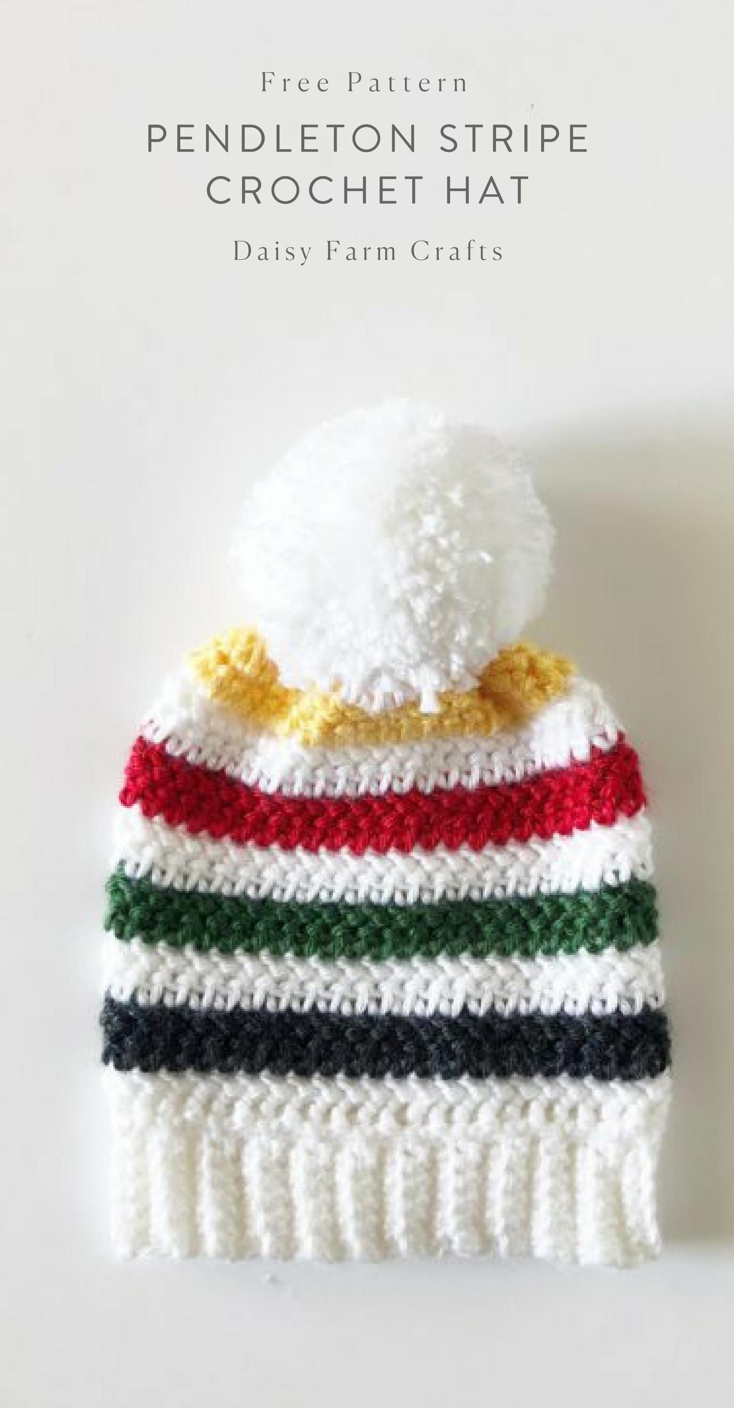 Free Pattern - Pendleton Stripe Crochet Hat   Tejidos   Pinterest ...