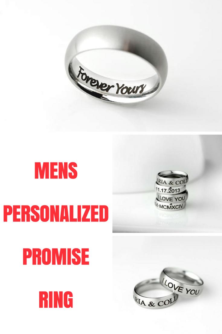 Valentine Gift For Him Boyfriend Gift Mens Ring Mens Promise Ring