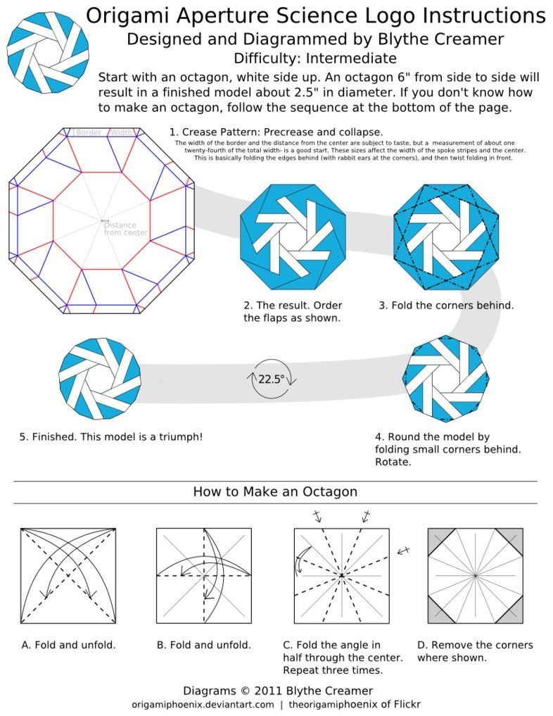 Aperture Science Origami By Origamiphoenix On Deviantart For More Photos Diagrams And Tutorials Of His Cool Star War