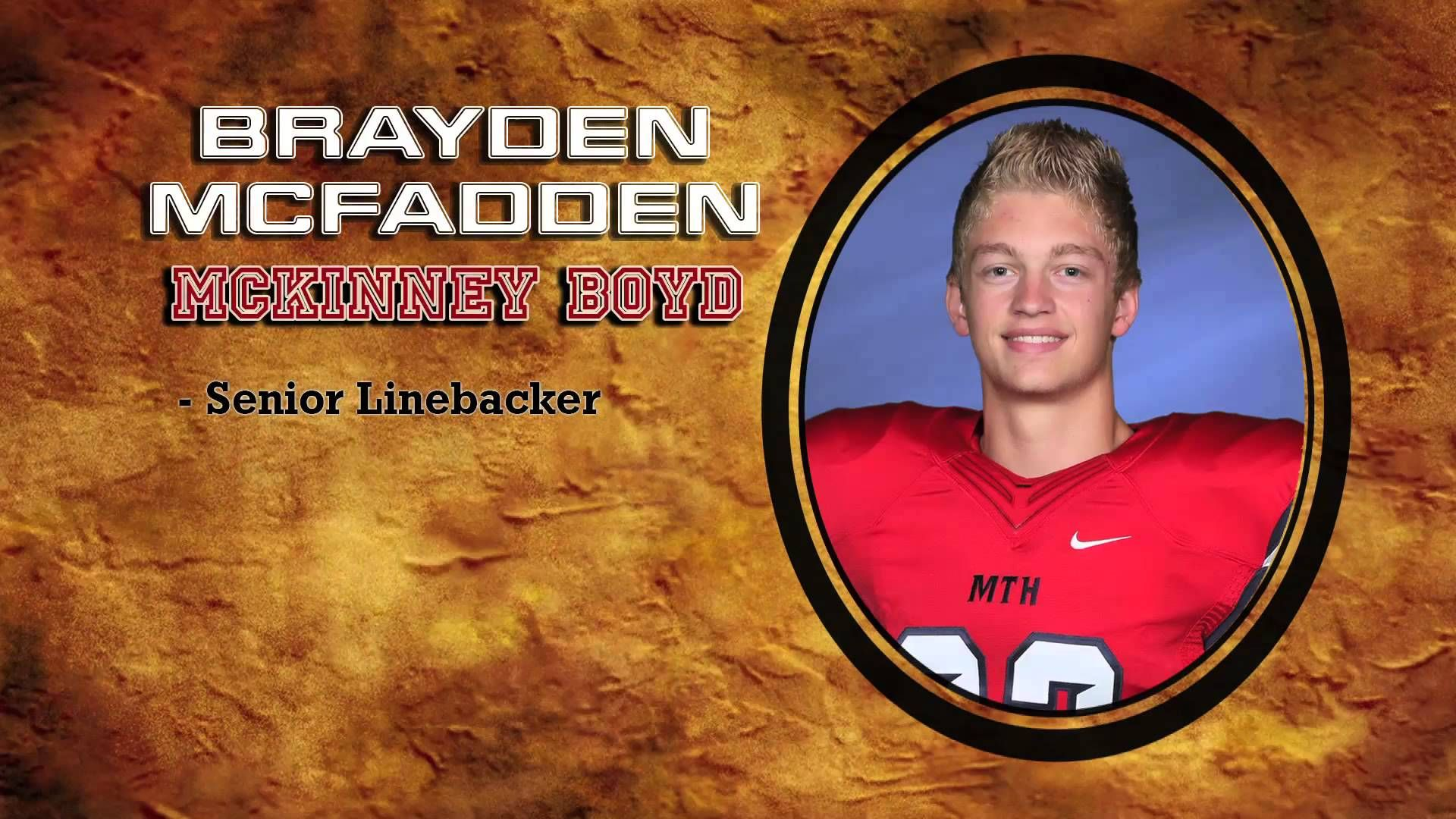 Scholar Athlete of the Week Brayden McFadden (Football