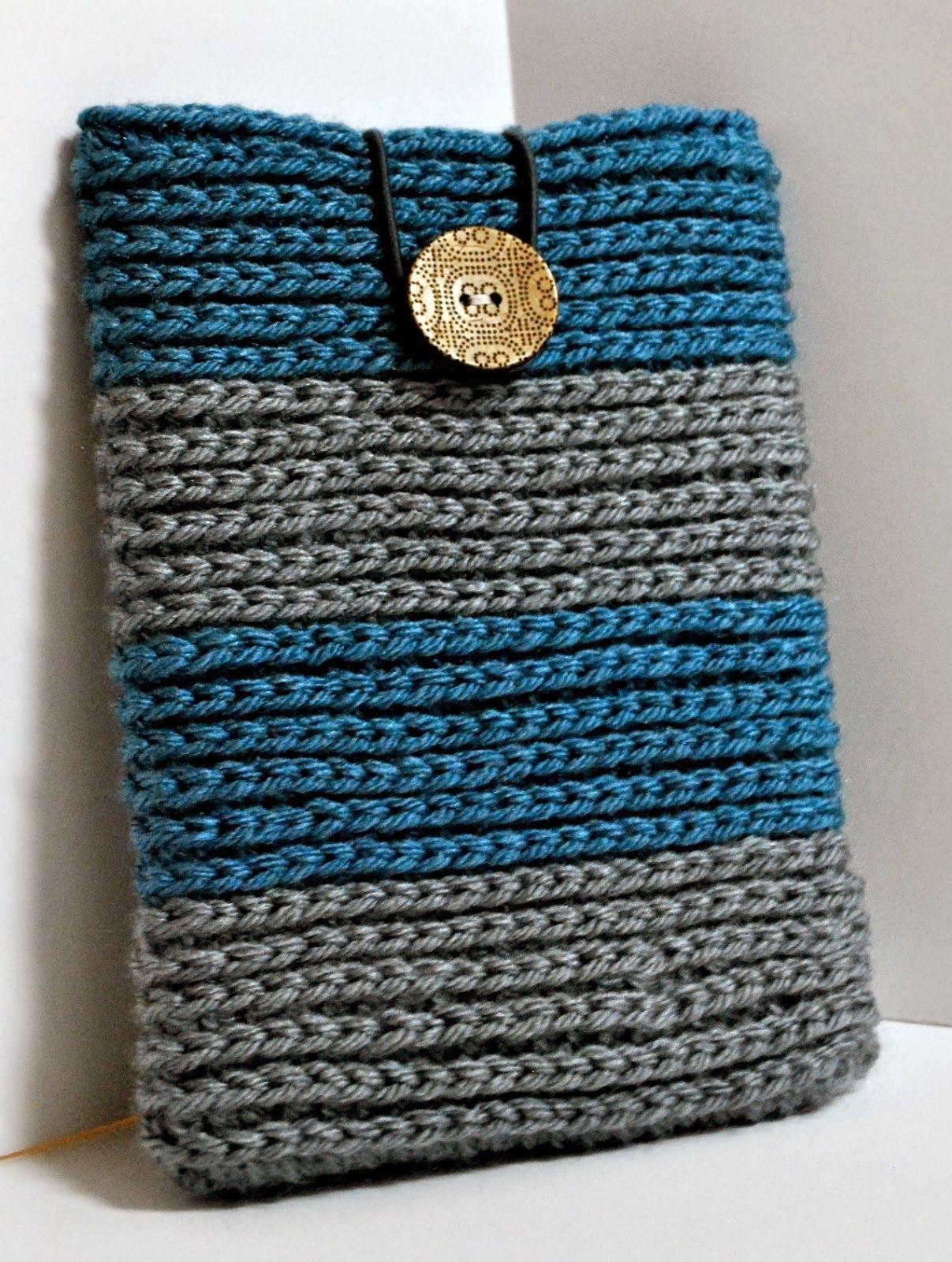 Funda Crochet (estilo tejido dos agujas) Traducción | El Duende de ...