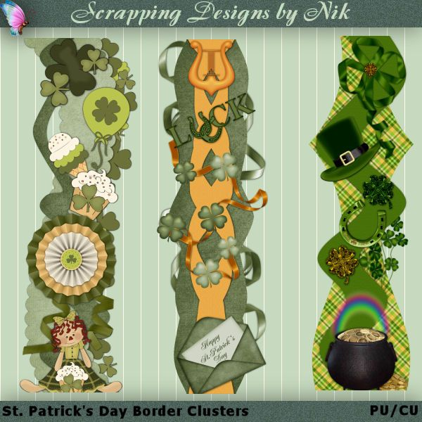 border clusters to help capture the memories of that one day during year when everybody is irish erin go bragh also st patrick   scrapbooking embellishments rh ar pinterest