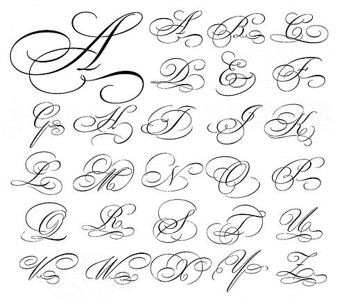 Resultado de imagen para copperplate capital flourishes letering