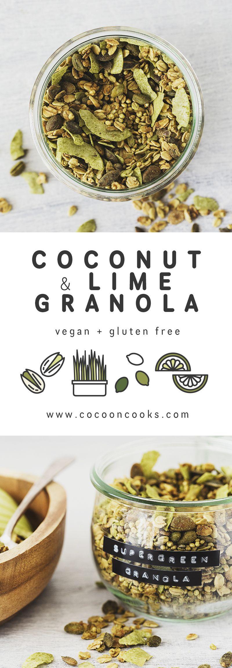 Coconut Lime Supergreen Granola Vegan Granola Granola Food