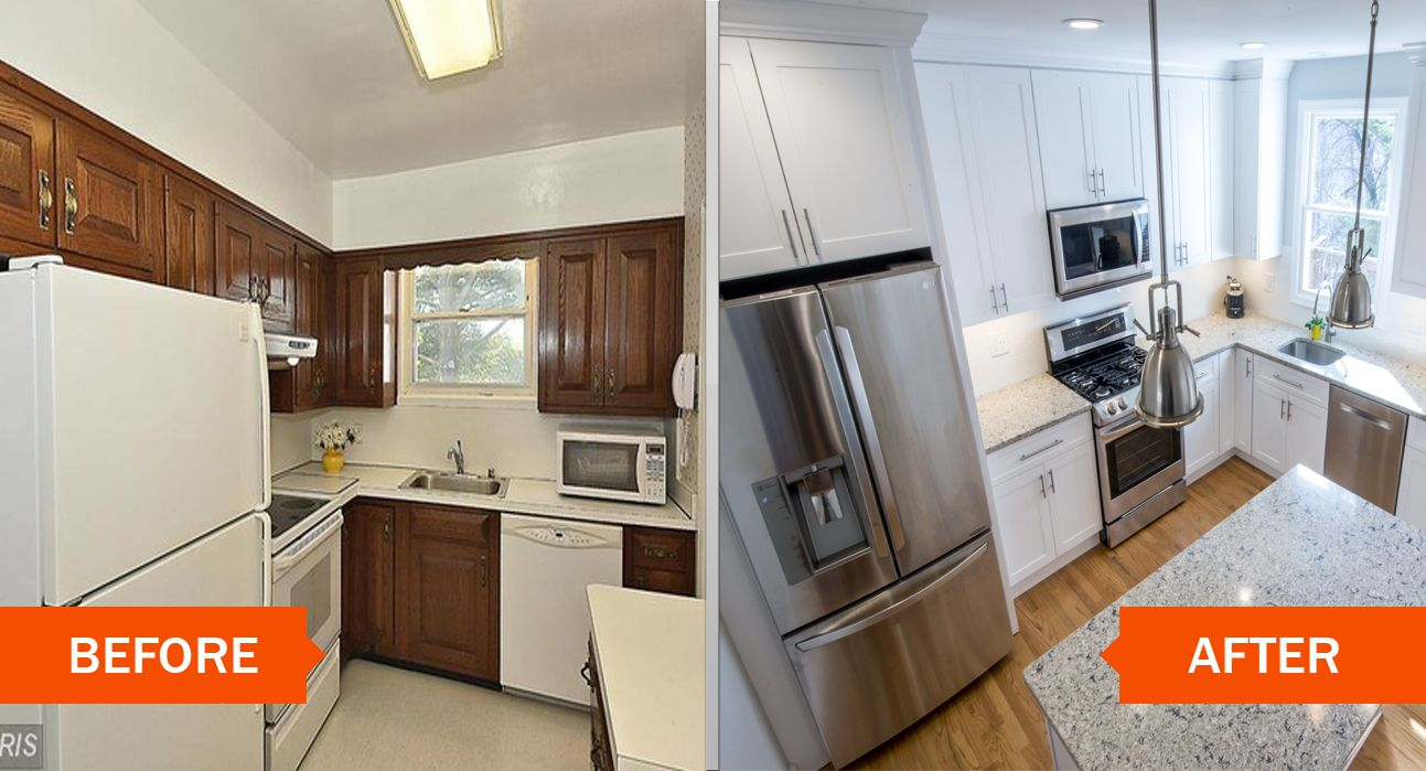 Condo remodel before and after florida condo decorating for Kitchen cupboard makeover before and after