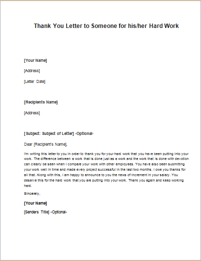 Thank You For Your Hard Work Letter from i.pinimg.com