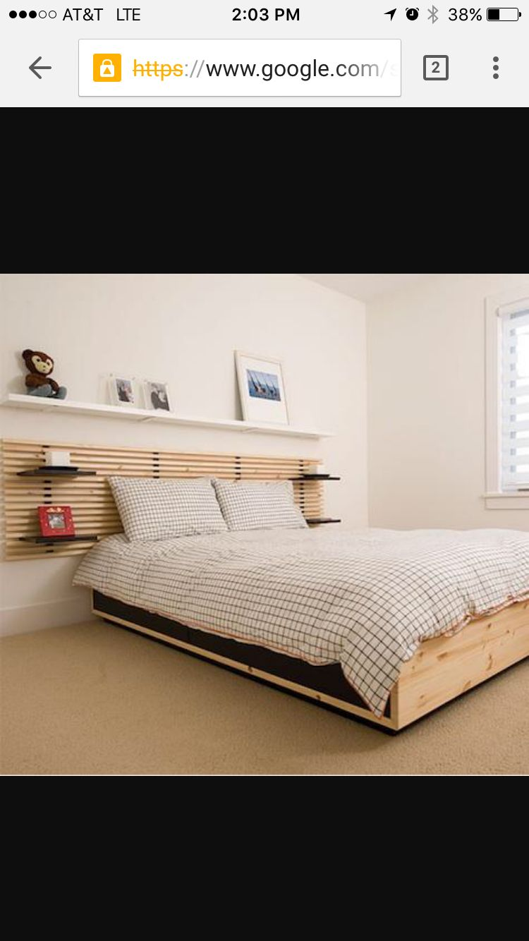 Ikea Mandel Headboard And Separate 4 Drawer Storage Bed Frame Slightly Obsessed Ikea Bed Ikea Mandal Headboard Ikea Headboard