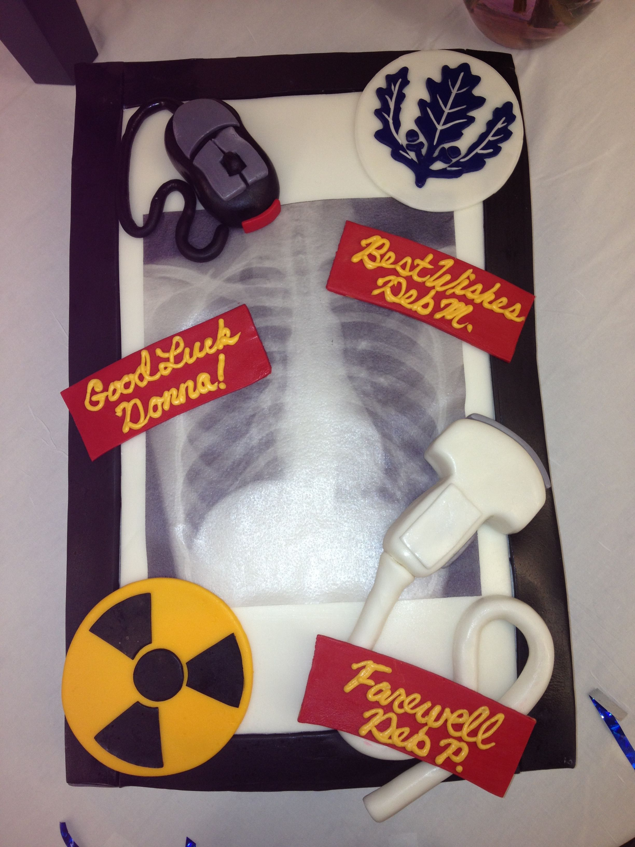 Happy Radiography Day Cake