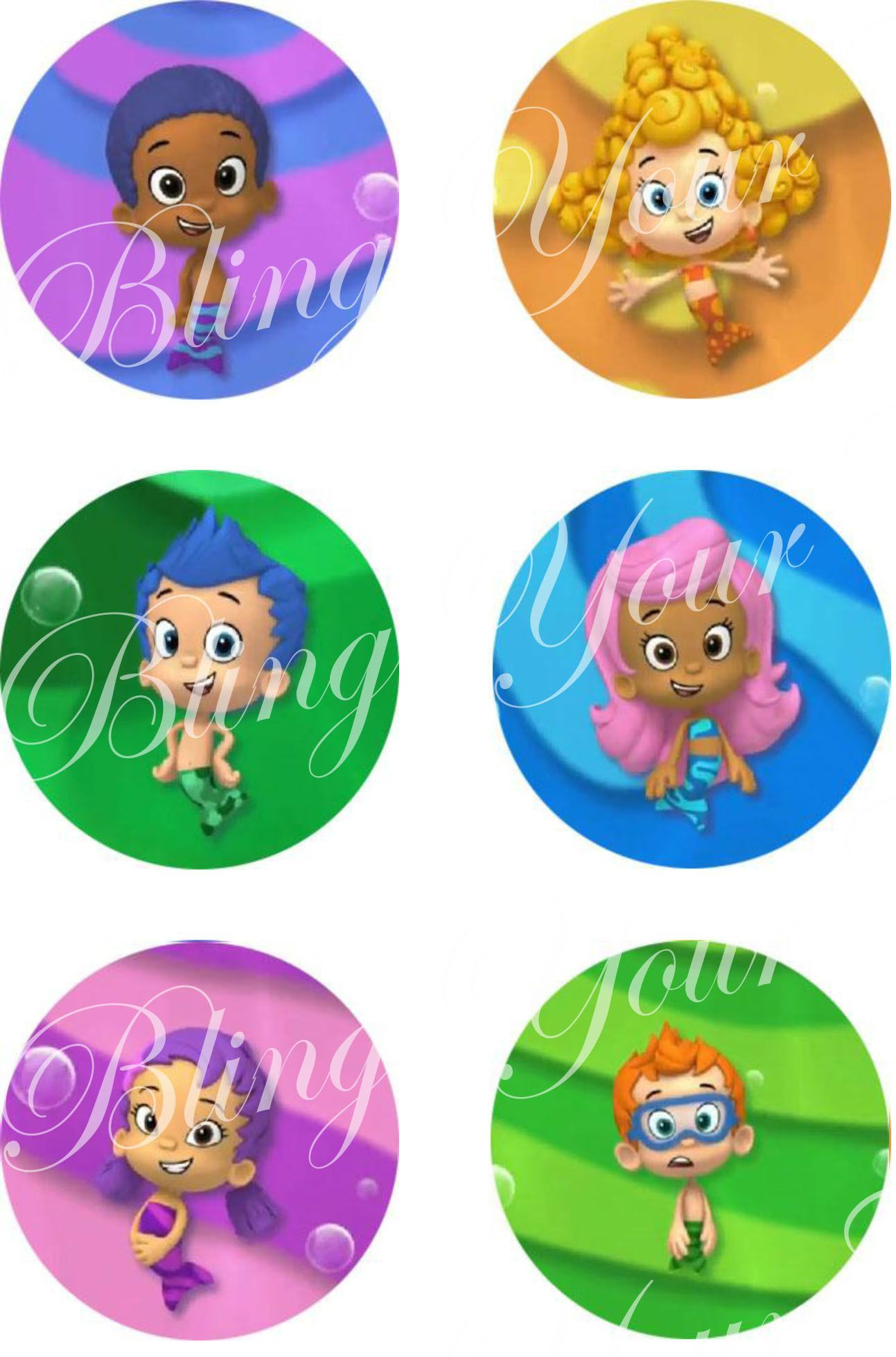 Bubble guppies character inspired edible icing cake decor toppers bubble guppies character inspired edible icing cake decor toppers bg3 amipublicfo Images