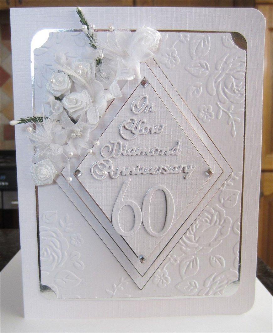 Diamond Anniversary Card Ordered Wedding Anniversary Cards Diamond Wedding Anniversary Cards Anniversary Cards Handmade