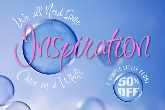Inspiration Font 50% Off by TypeSETit on Creative Market