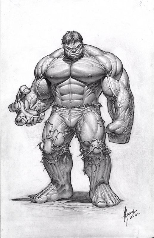 Hulk Pencil Drawing Of The Incredible Hulk Book Art Drawings