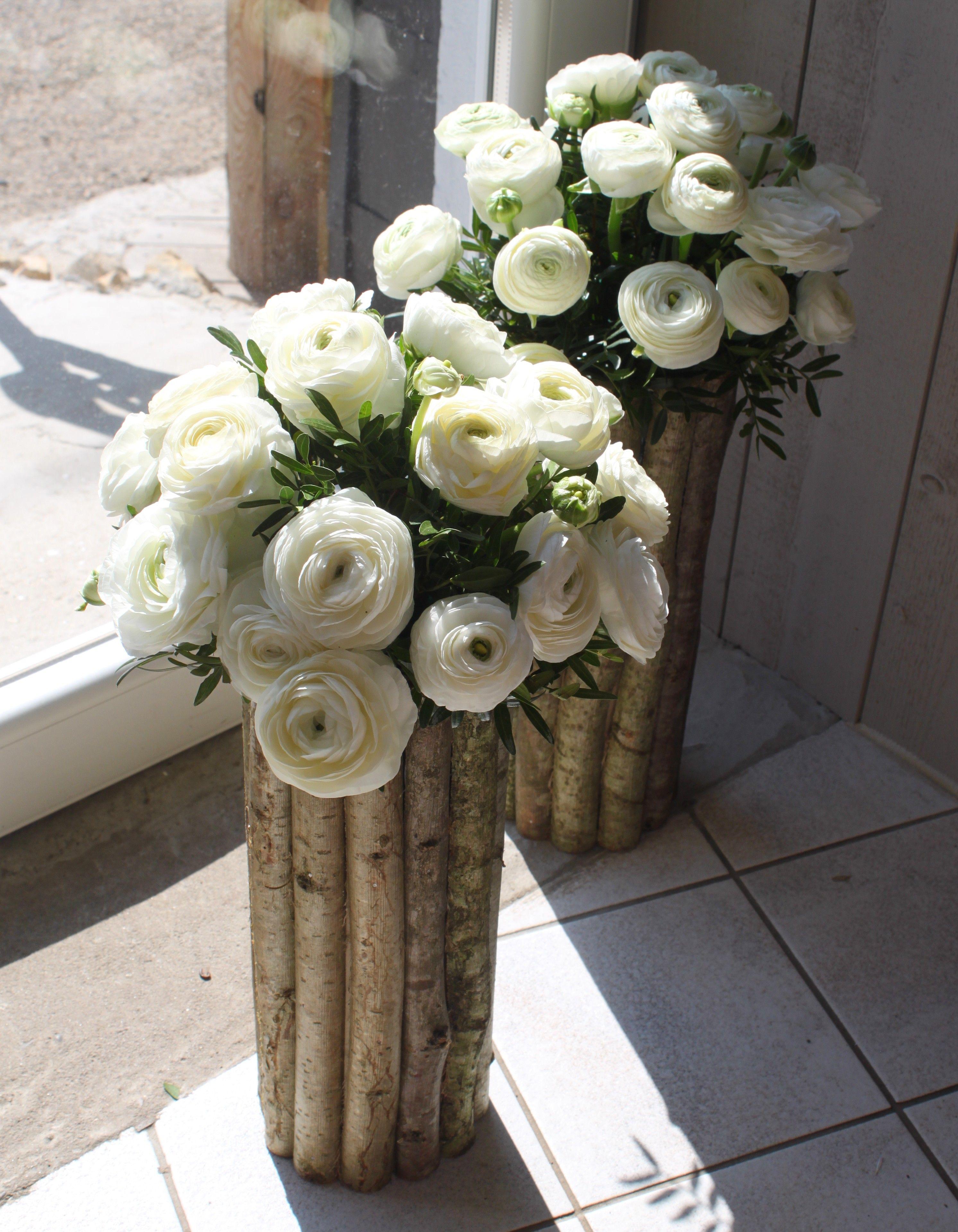 d coration florale mariage th me nature tron ons de bois. Black Bedroom Furniture Sets. Home Design Ideas