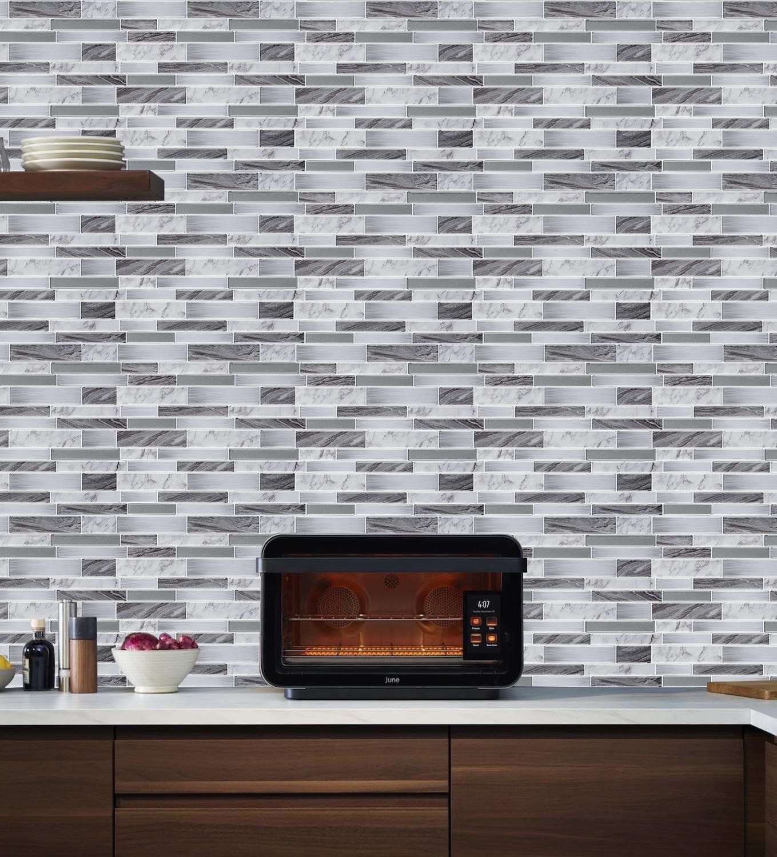 Waterproof Kitchen Wallpaper Self Adhesive 3d Mosaic Wall Tiles Peel And Stick Backsplash Stickers For Bathroom In 2020 Mosaic Wall Tiles Kitchen Wallpaper Mosaic Wall