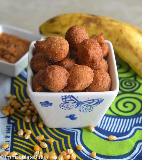 Accra Banana (Deep Fried Banana & Corn Fritters)
