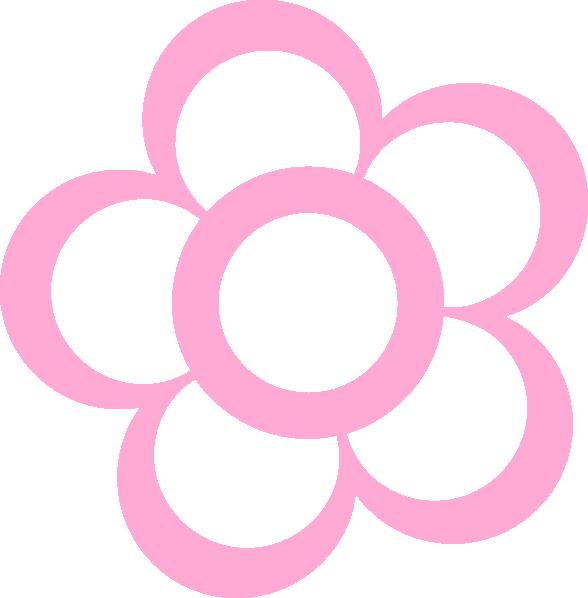 floer clip art | Pink Flower Outline clip art - vector clip art ...
