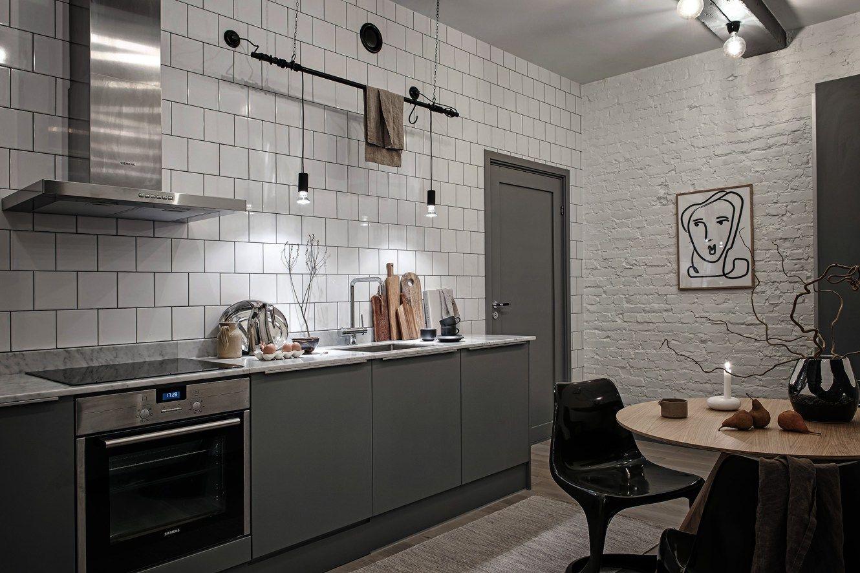 Historia Y Modernidad En Un Bajo Industrial Nordico En Gotemburgo Delikatissen Cocina Estilo Industrial Estilo Industrial Decoracion Interior De Cocina