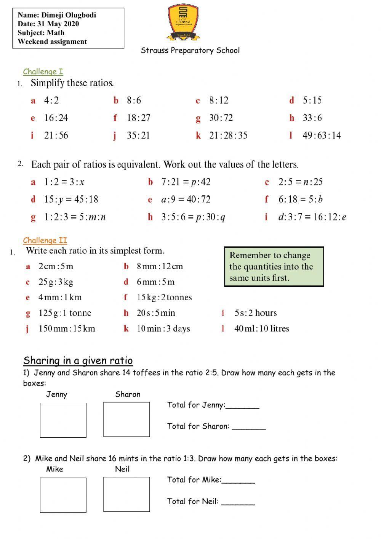 Ratio Interactive worksheet   Math websites [ 1413 x 1000 Pixel ]