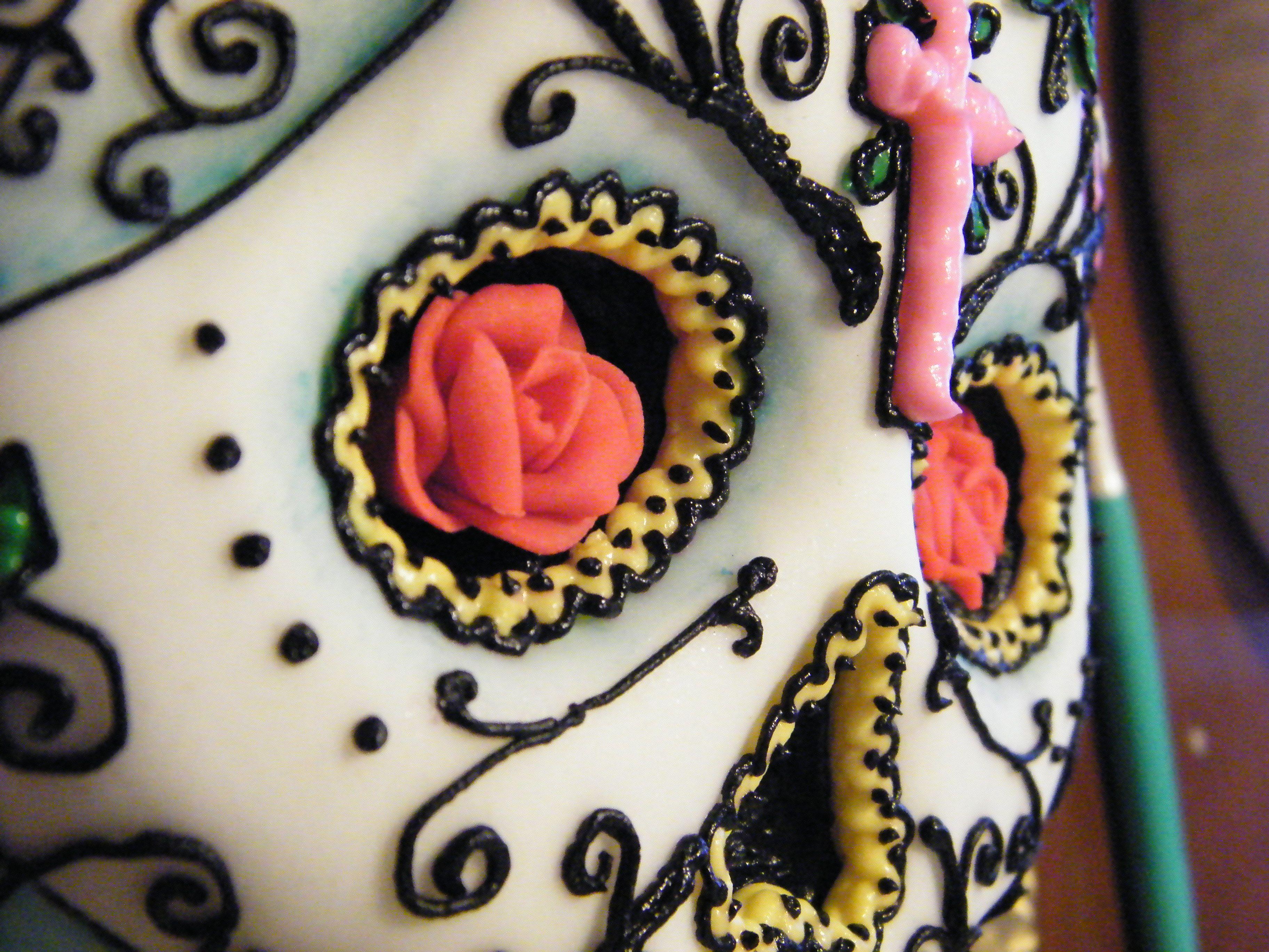 Day of the Dead/Dia de los Muertos/Sugar Skull cake