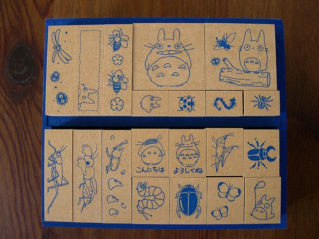 Totoro Rubber Stamps