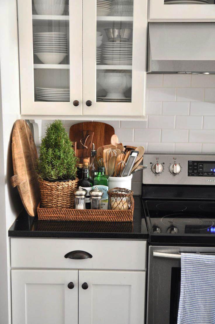 Graceful Kitchen Organization Categories That Look Beautiful Kitchen Counter Decor New Kitchen Kitchen Decor