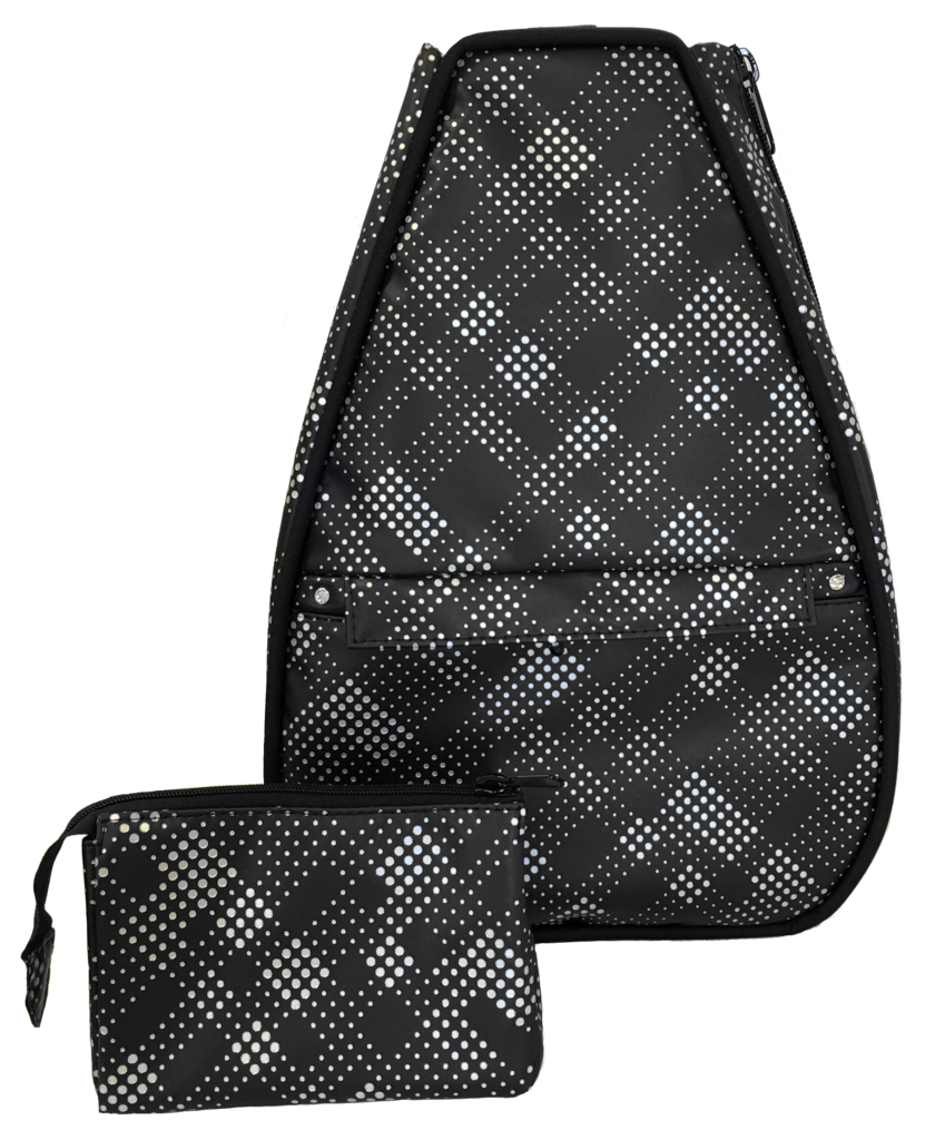 62a28b3282d Check out Black Plaid Faux Leather With Black Lining 40 Love Courture Ladies  Elizabeth Tennis Backpack