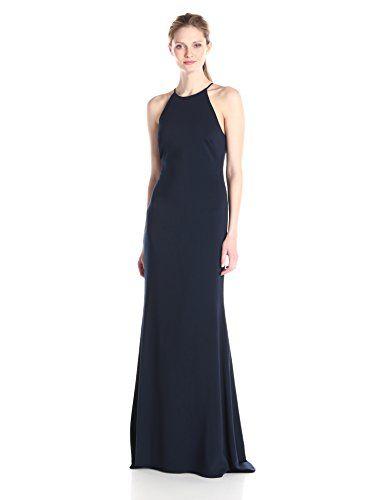91d9c7b7e BADGLEY MISCHKA Badgley Mischka Women S Stretch Crepe Halter Gown.   badgleymischka  cloth