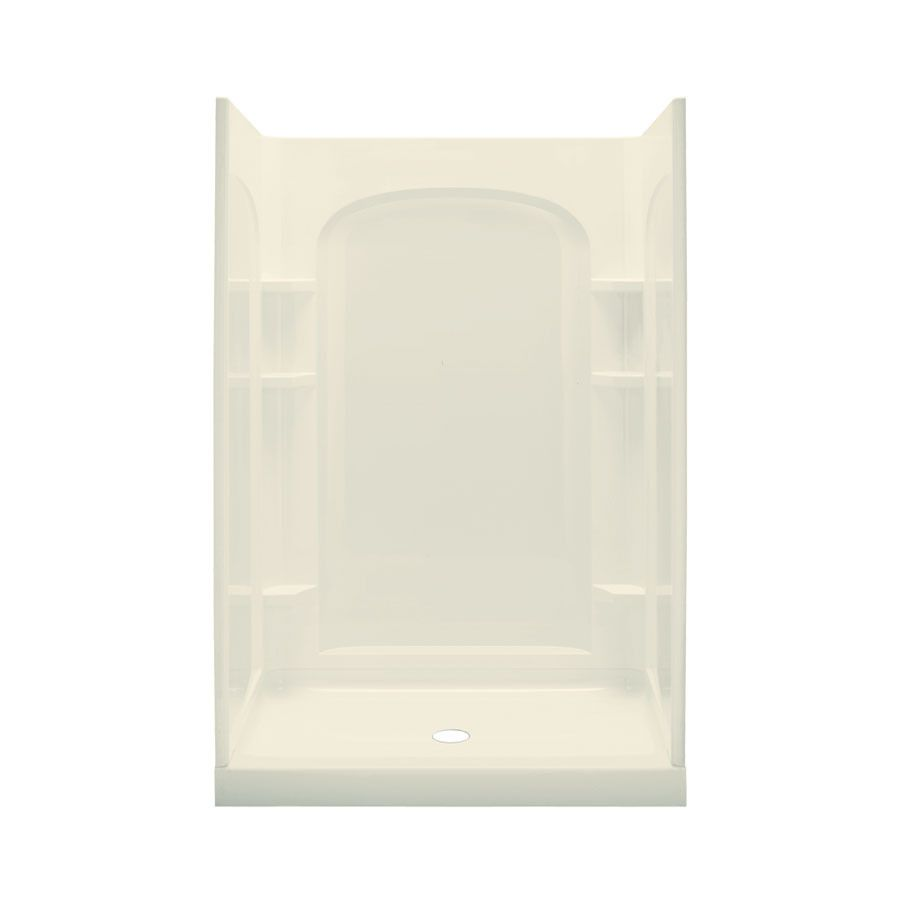 Sterling Ensemble Biscuit Wall Vikrell Floor 4 Piece Alcove Shower