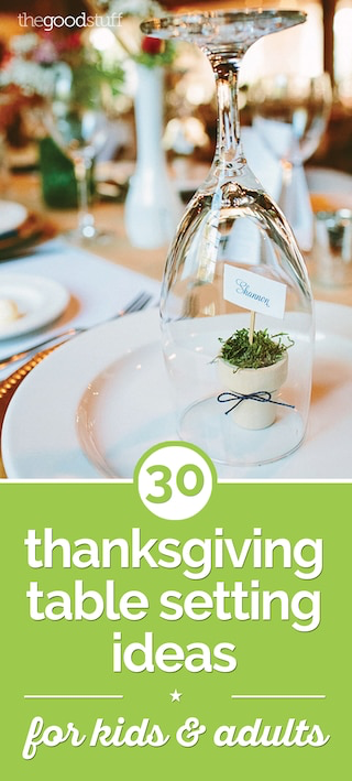 31 Thanksgiving Table Setting Ideas for Kids & Adults - thegoodstuff