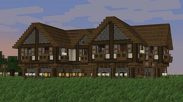 Tudor Style Medieval Manor Pub Inn Minecraft Project - Minecraft haus ideen mittelalter