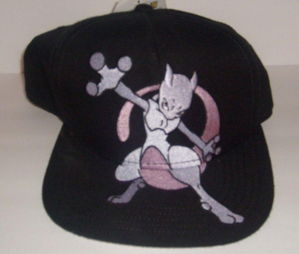 0f9b380b5 POKEMON MEWTWO ORIGINAL SNAPBACK FLAT BILL HAT CAP NEW #SPENCERS ...