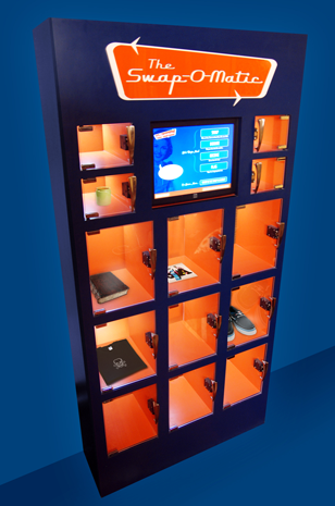 Swap-O-Matic - vending machine that let's people trade stuff they don't need for stuff they want