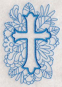 Doodle Cross 1 design (M2841) from www.Emblibrary.com