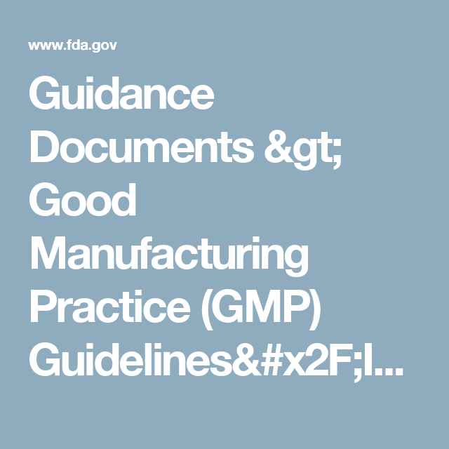 Gmp Guidelines Inspection Checklist For Cosmetics Learning