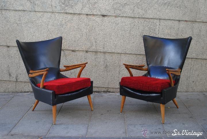 Butacas o sillones vintage aos 5060 con diseo escandinavo Retro