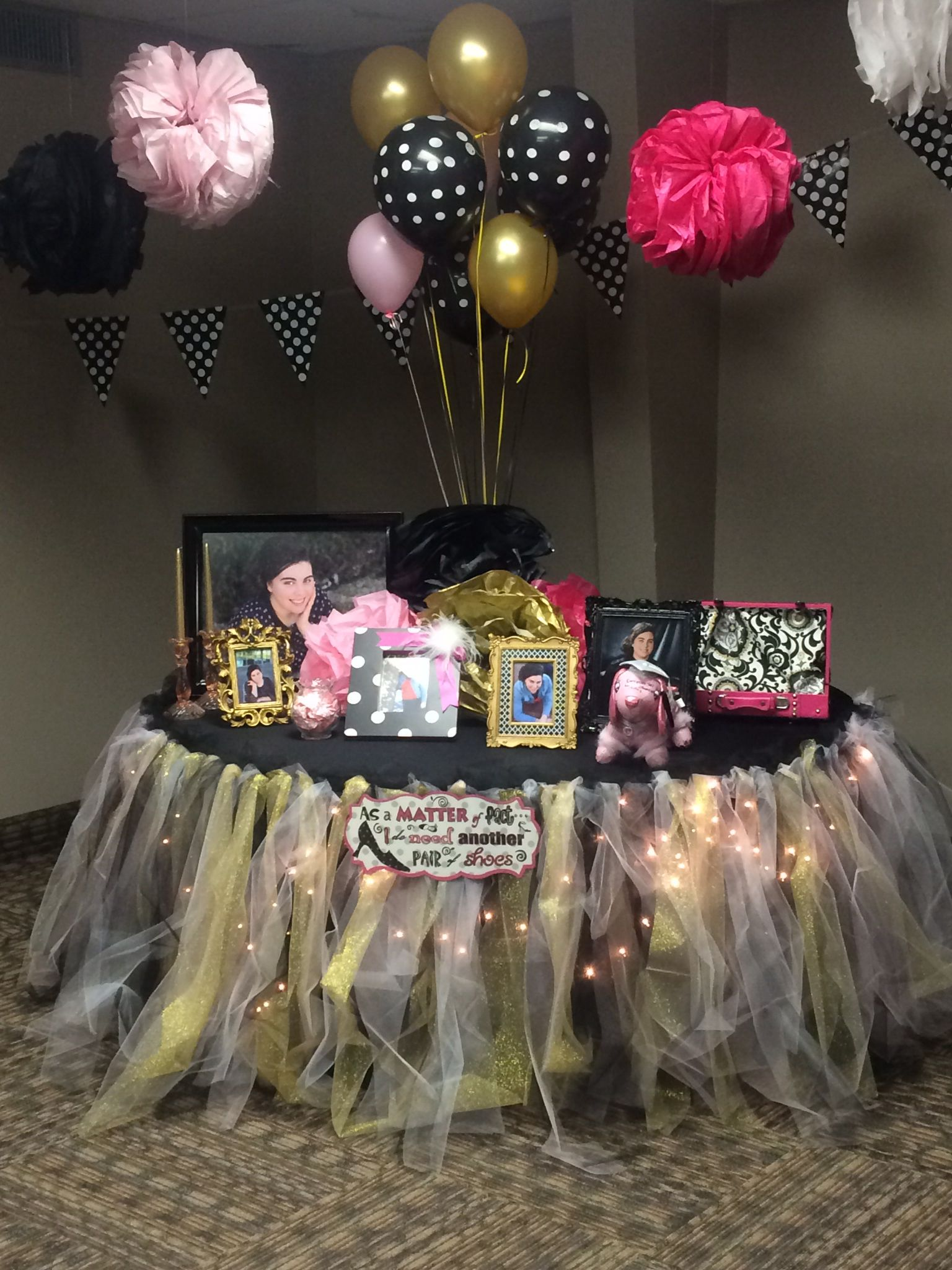 Kate Spade inspired graduation party table graduation