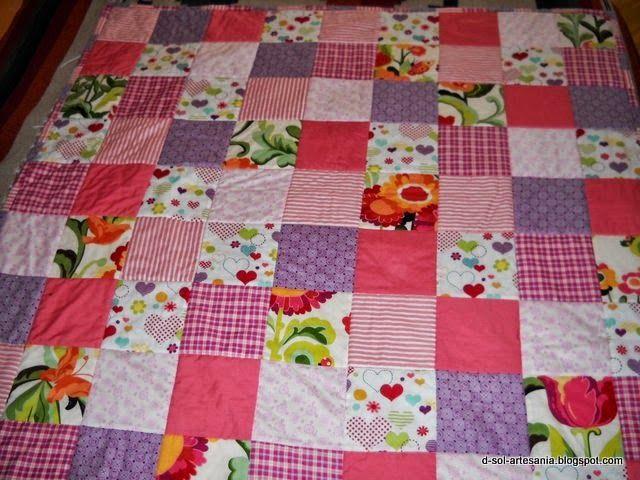 Doña Sol - Artesanía textil: Nueva colcha de patchwork para bebé