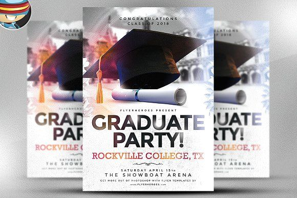 Graduate Party Flyer Template Graphicsmag  Flyer Templates