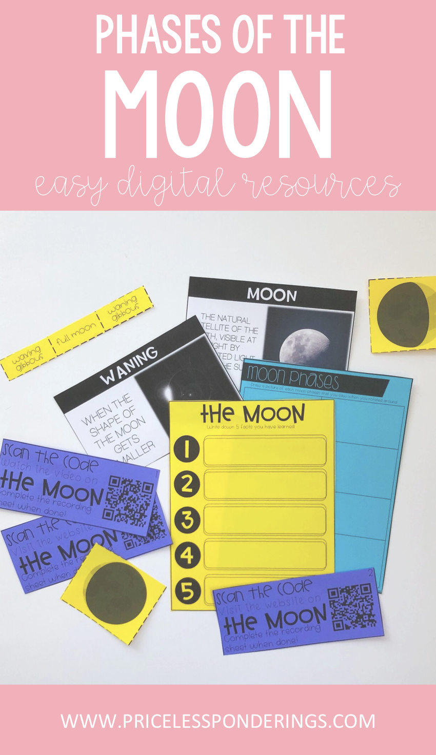 Moon Phases Worksheets And Activity Pack Interactive Science Notebook Activity Pack Science Teaching Resources [ 1472 x 850 Pixel ]