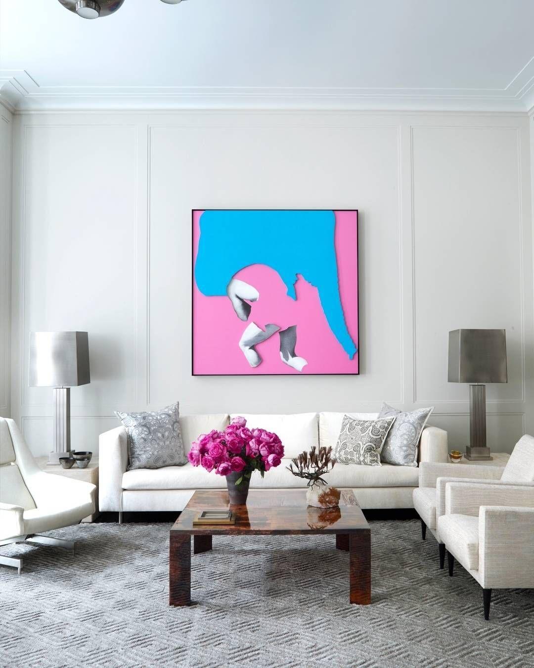 Screaming pink. | Photo: @simonuptonpics Design: Timothy Haynes & Kevin Roberts by elledecor